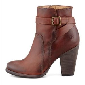 Patty Redwood brown ankle booties